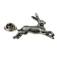 Hare English Pewter Lapel Pin Badge XWTP107
