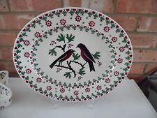 Emma Bridgewater Medium Oval Joy Robin Christmas Serving Platter Dish - New