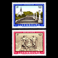 Luxembourg 1986 - Tourism Architecture - Sc 759/60 MNH