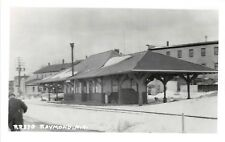 E4/ Raymond New Hampshire NH Real Photo RPPC Postcard c1950s Railroad Depot
