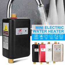 3800W 110V Electric Instant Hot Tankless Water Heater Shower Kitchen Tap Faucet