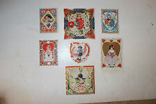 Lot of 7 Vintage Valentines Cards