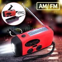 Wind Up/Solar/Dynamo Powered AM/FM Radio &3 LED Flashlight Torch & Phone Charger
