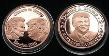 Clinton Trump  Copper Round 2 x 1 Oz Kupfer Medaille