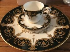 3 PCS MARCHESA LENOX BAROQUE NIGHT DEMITASSE CUP SAUCER & ACCENT PLATE NEW