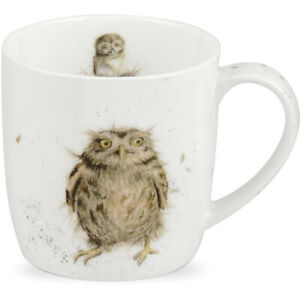 Royal Worcester Wrendale Designs What A Hoot Owl 310ml Fine Bone China Mug