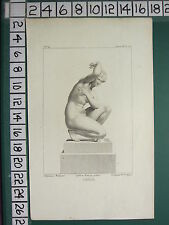 c1815 ANTIQUE PRINT ~ VENUS STATUE