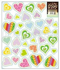 Glow Stickers Color of Love Glow In The Dark Stickers Cute Color Heart
