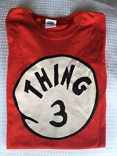 Thing 3 Tshirt Unisex Size XL Color - Red