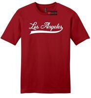 Los Angeles Mens Soft T Shirt Home City Pride Born Raised Holiday Gift LA Tee Z2