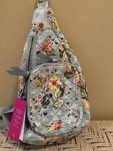 Vera Bradley Iconic Mini Sling Backpack Belt Bag  Floating Garden NWT