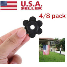 4/8Pack Mini Rubber Flag Pole Stand Stoppers Garden Flag Us Seller