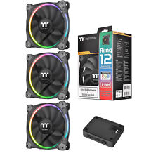 ThermalTake Riing12 LED RGB Premium Edition, 3 x 120mm Fans, 1 x Fan Controller