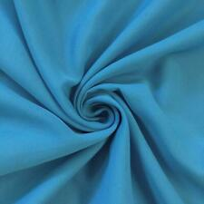 Soft Poly Chiffon Fabric (Turquoise) - By The Yard - Sheer- Wholesale Price
