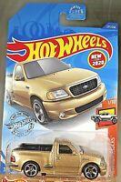 2020 Hot Wheels #237 HW Hot Trucks 1/10 '99 FORD F-150 SVT LIGHTNING Gold w/MC5s