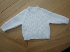 BABY BOY/GIRLS HAND KNITTED CABLE SWEATER 6-12 months