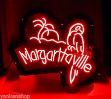 LD077 Margaritaville Parrot Beer Bar Display LED Red Light 3D Acrylic Sign