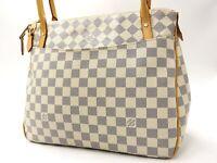 Auth LOUIS VUITTON Figheri PM Damier Azur Tote Bag Shoulder Bag N41176 V-3466