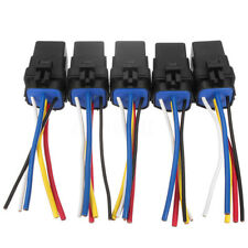5PCS 40A 5Pin ATV Motorcycle Relay Harness 16/18AWG 5 Wires Socket waterproof