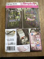 CAR ORGANISER STORAGE BAG / POUCHES / CRAFT Sewing Pattern Simplicity 2916 UNCUT
