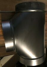 """IMPERIAL BM0376 8"""" x 14.75"""" STOVE PIPE TEE - 24 Gauge Sgl Wall"""