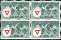 Australia 1955 SG286 3½d YMCA Centenary block MNH