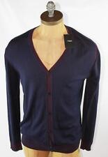 AUTH $495 Ermenegildo Zegna Z Zegna Men Silk Cotton Cardigan Sweater 2XL