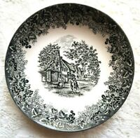 WEDGWOOD 7″ Individual Pasta Bowl Romantic England Black Queen's Ware