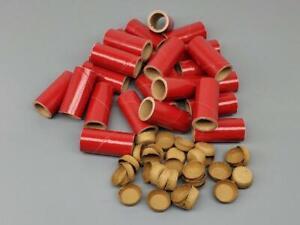 "25-pc KIT  M80 Fireworks Gloss Red Pyro Tubes End Plugs  9/16"" x 1-1/2"" x 1/16"""