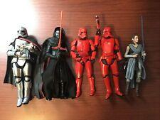Star Wars Black Series Lot Sith Trooper Rey Kylo Ren Finn Phasma