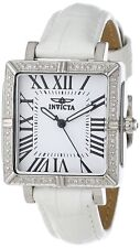 New Ladies Invicta 12410 Wildflower Swiss White Leather Numeric Dial Watch