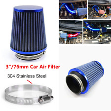 "Racing Air Filter 3""/76mm Mushroom Head Car Filter Flow Intake Blue Accessories"