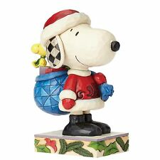 Jim Shore Here Comes Snoopy Claus Figurine (Snoopy & Woodstock)