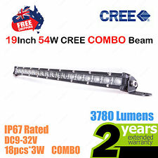 19inch 54W SLIM CREE LED Light Bar Work COMBO Beam Truck ATV Camp 4WD 12V 24V