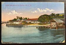 1917 Cristobal Canal Zone Panama Paquebot Picture Postcard Cover To USA