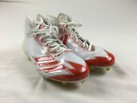 adidas adizero - White/Orange Cleats (Men's 11) - Used