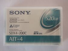More details for sony ait4/ait-4 data tape/cartridge 200/520gb sdx4-200c remote 64k memory new