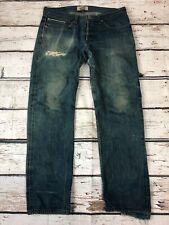 Naked and Famous Mens 36 Weird Guy Rusted Blue Selvedge