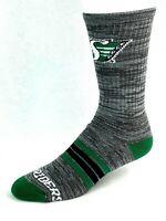 Saskatchewan Roughriders Gray RMC Green & Black Quad Stripe Deuce Crew Socks