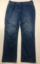 NYDJ Not Your Daughter's Jeans Straight Leg Blue Stretch Size 14