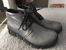 LADIES HOTTER SIZE 5 GREY LEATHER ANKLE BOOTS Lace Up Excellent Condition