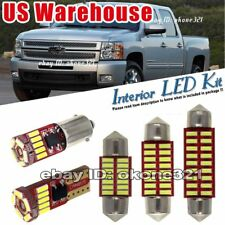10-pc Pure White LED Light Interior Package Inside Kit Fit Chevy Silverado 07-13