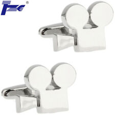 Men Silver Vidicon Vedio Camera Cufflinks With Velvet Bag TZG Cuff Links