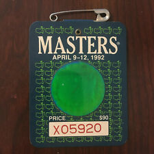 1992 Masters Badge Ticket Augusta National Golf Pga Fred Couples Wins Rare Tiger