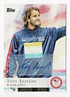 2012 Topps USA Olympic Team Autograph #76 Tony Azavedo Water Polo