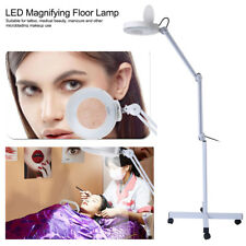 15W LED 8x Lupenleuchte Lupenlampe Standlupe Rollstativ Kosmetik Lampe Lupe Weiß