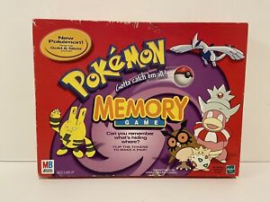 2000 Pokemon Gold & Silver Memory Game by Milton Bradley Complete in Great Cond