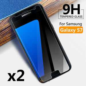 2X Genuine Tempered Glass Screen Protector Film for Samsung Galaxy S7