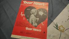 Dear Heart Sheet Music 1964 Geraldine Page Glenn Ford