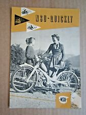 VINTAGE 1950's-60's NSU QUICKLY MOPED BROCHURE